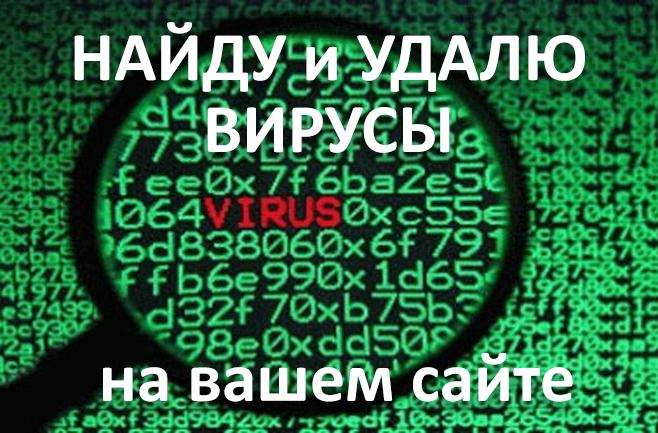 Найду и удалю вирусы на вашем сайте