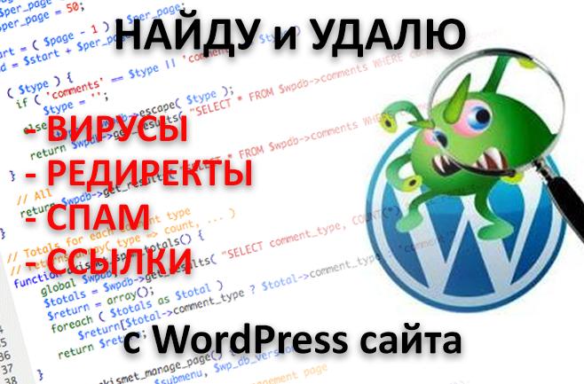 Найду и Удалю вирусы с WordPress